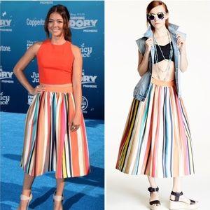 """Alice + Olivia """"Nikola"""" carnival stripe skirt 2"""